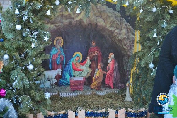 Рождественский городок в микрорайоне