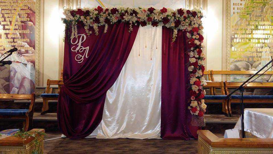 Оформление зала для свадеб и других торжеств